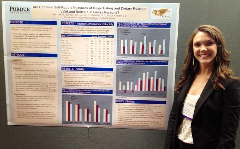 Brittany Bohrer at the 2013 International Conference on Eating Disorders